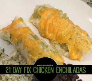 21 Day Fix - Chicken Enchilada