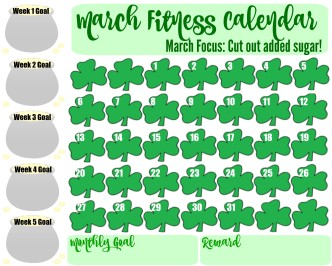 Fitness Calendar for March